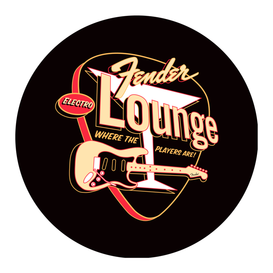 Fender Electro Lounge 30-inch Barstool Top Image