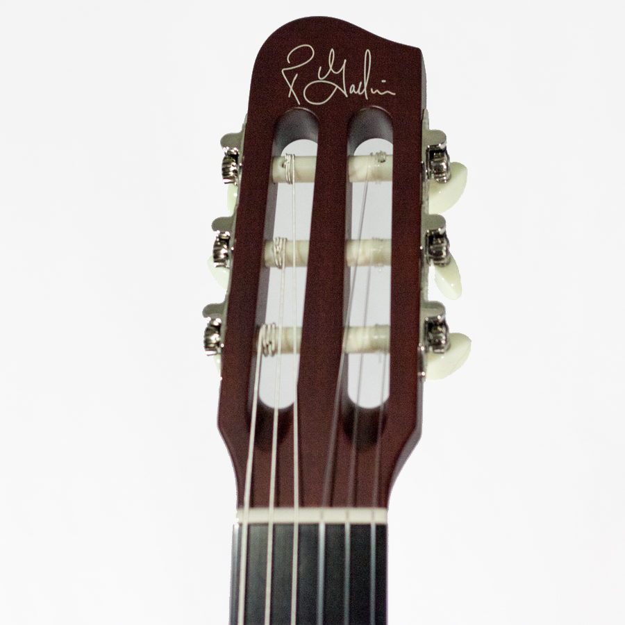 Godin Multiac Grand Concert SA Prototype - Red Headstock View
