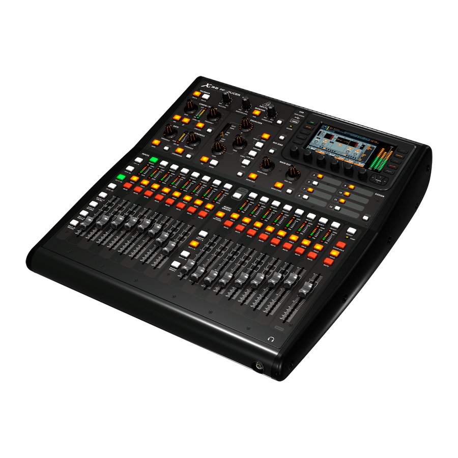 Behringer X32 Producer Angled View