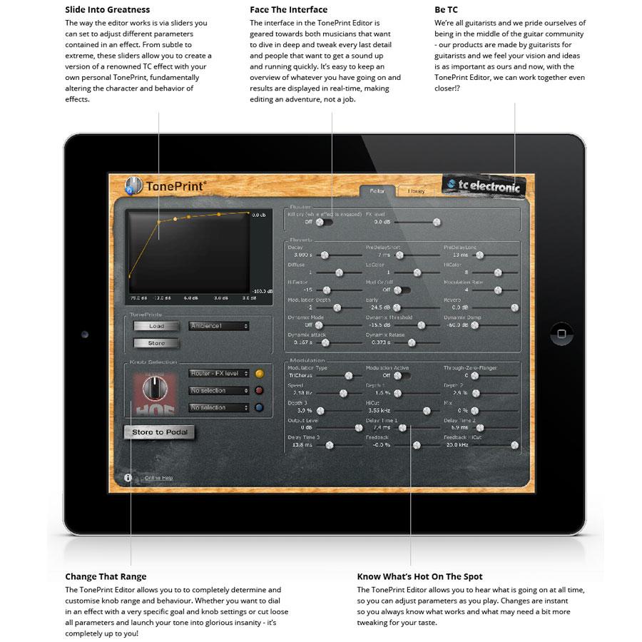 TC Electronic TonePrint Hall of Fame - HOF MiniToneprint