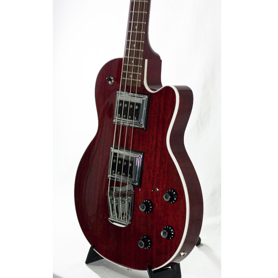 Guild GSR M-85 II Bass Cherry Red Angled View