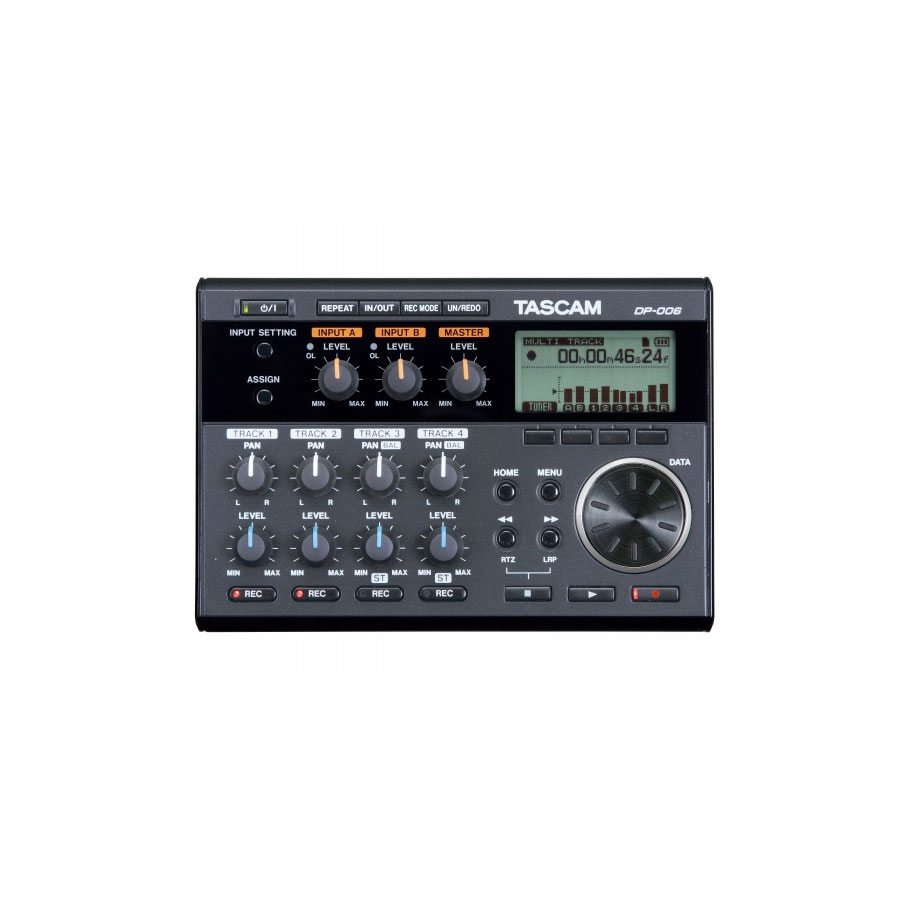 Tascam DP-006 Top View