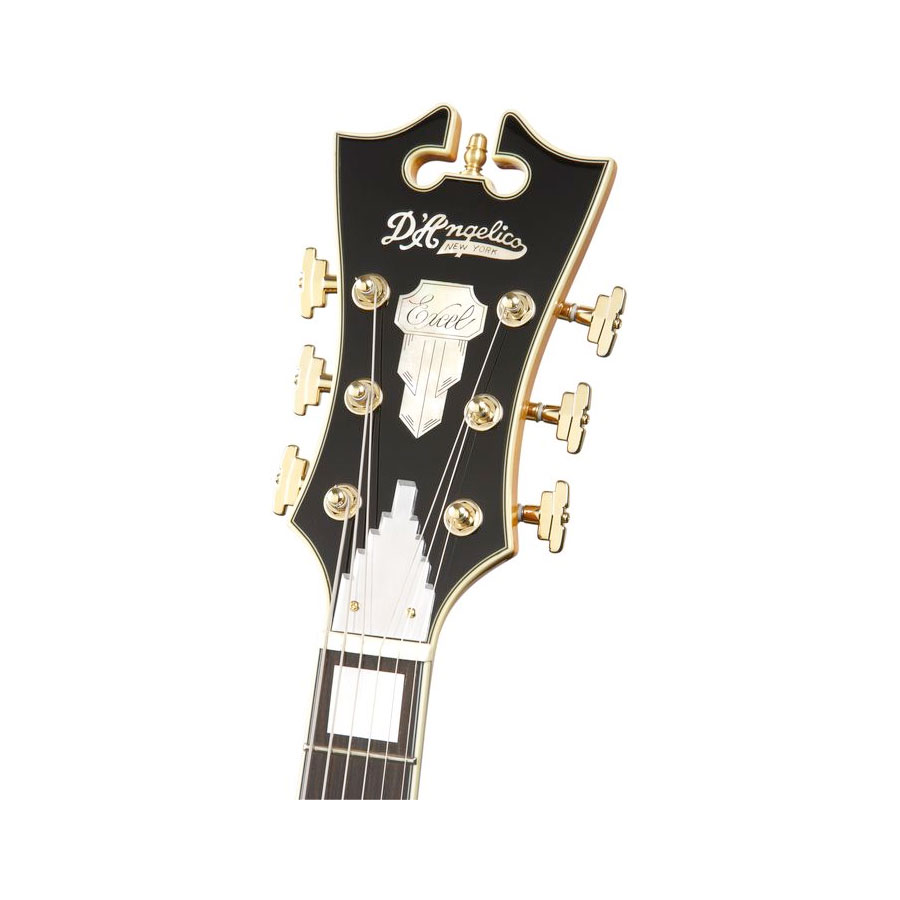 Dangelico EXL-1 Natural Headstock Detail