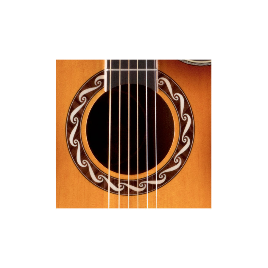 Luna Guitars Americana Zia Soundhole Detail