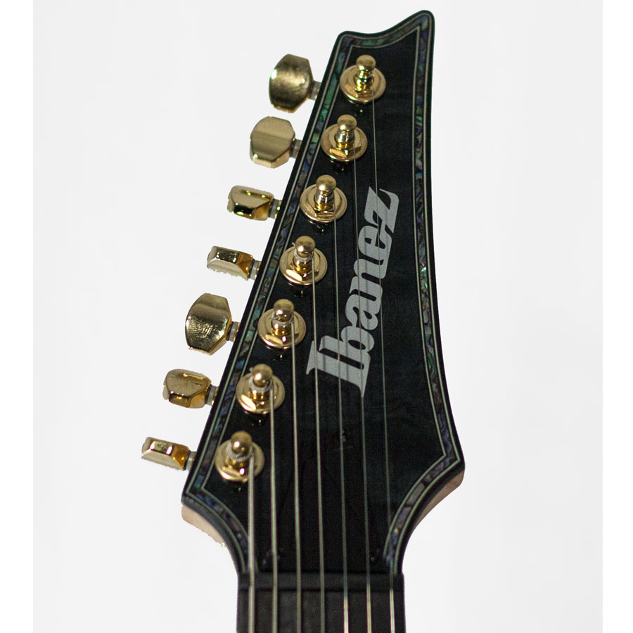 Ibanez RGIX27FEQM Transparent Gray  Blemished Headstock Detail