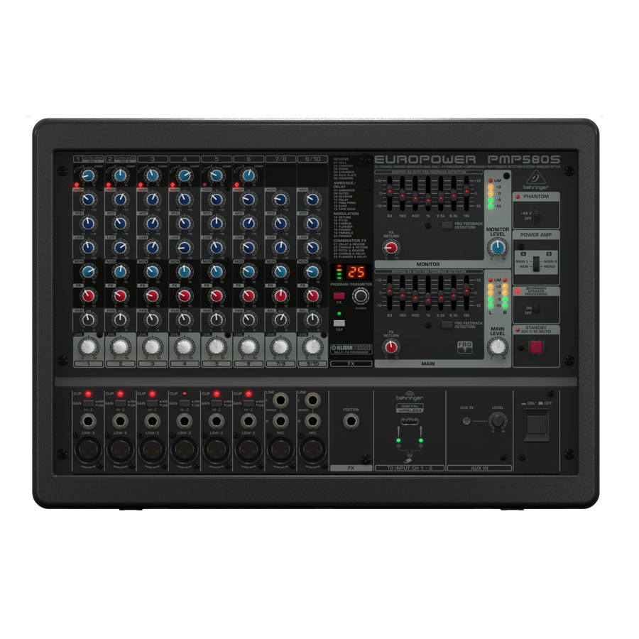 Behringer PMP580S Front View