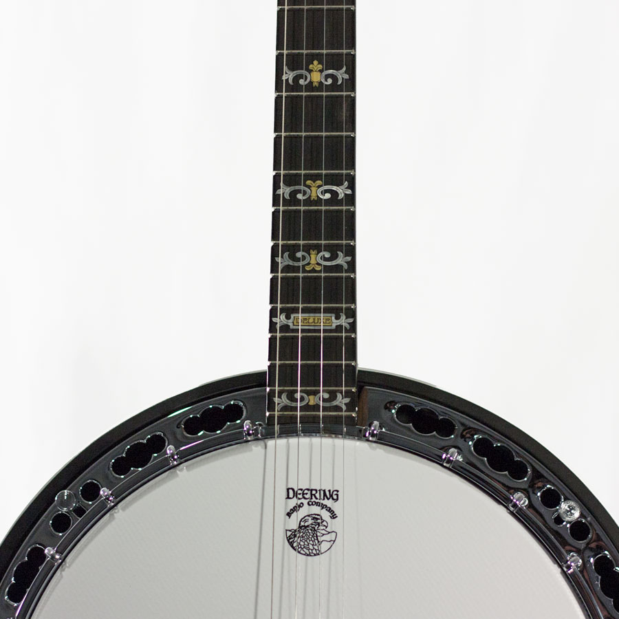 Deering Deluxe Custom Plectrum Banjo  Detail View