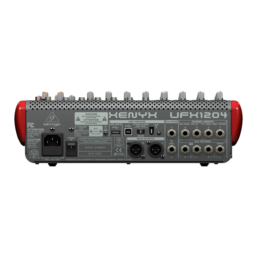 Behringer Xenyx UFX1204Angled View