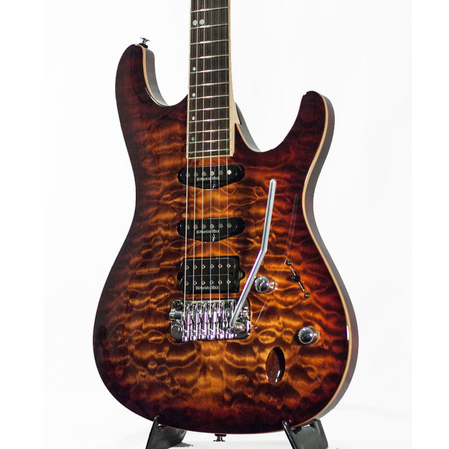 Ibanez SA960QM Brown Topaz Burst Blemished Body Detail