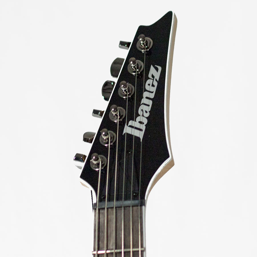 Ibanez SIR70FD - Iron Pewter Blemished Headstock Detail
