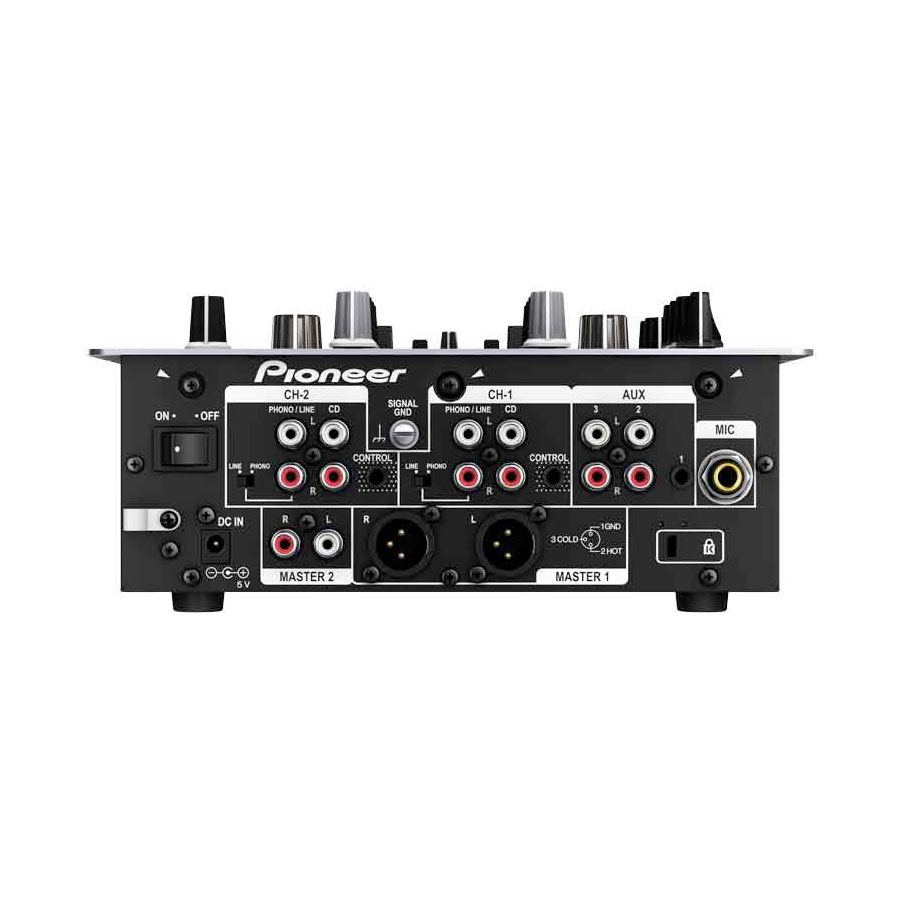 Pioneer DJM-250 Black Rear View