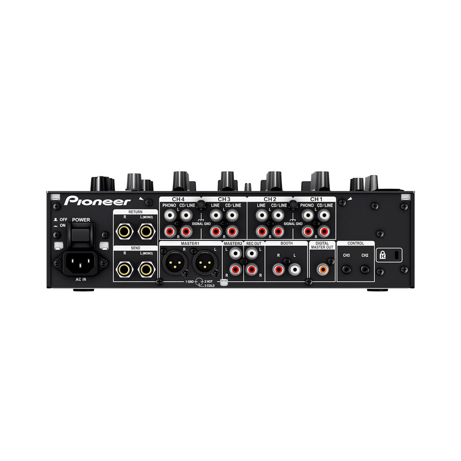 Pioneer DJM-750 Black Rear View