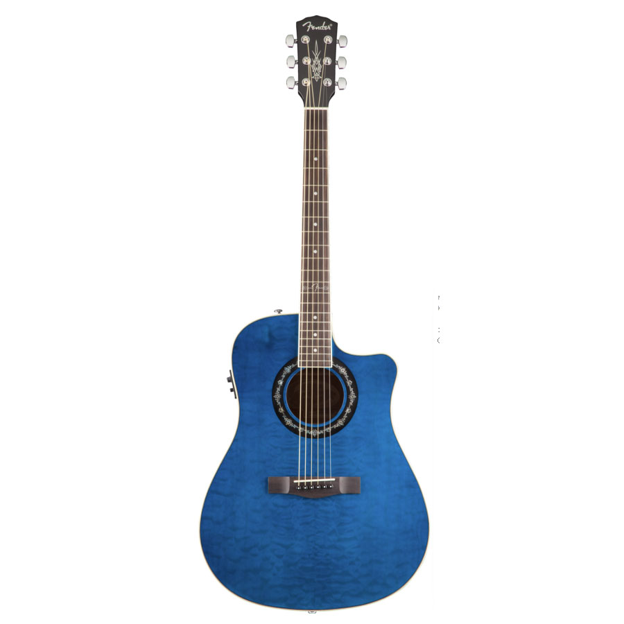 Fender T-Bucket 300 CE - Transparent Black Transparent Blue