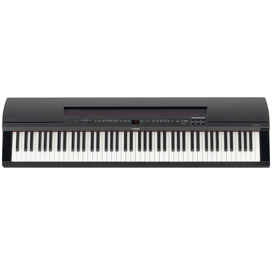 Yamaha P-255 White Top View Shown In Black