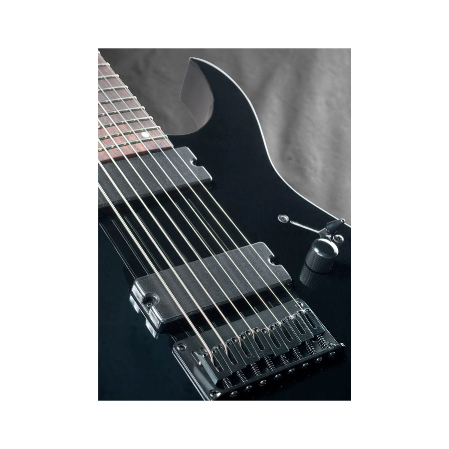 Ibanez RG8FM Transparent Gray Burst View 3
