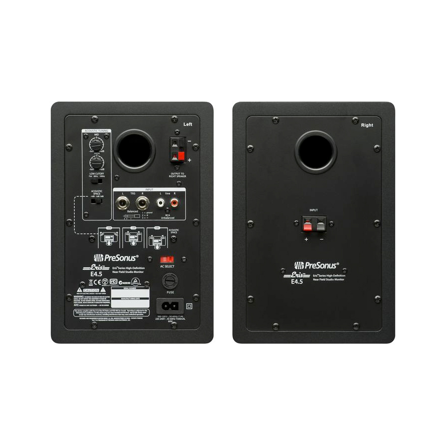Presonus Eris E4.5 Pair Rear View