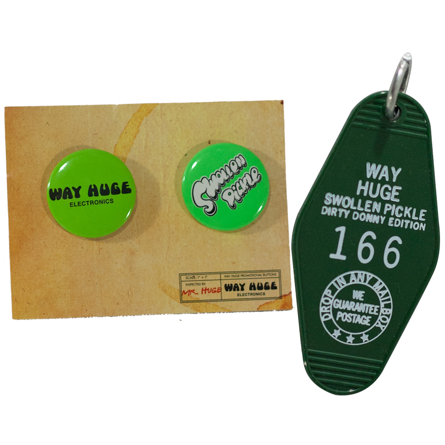 Way Huge Swollen Pickle Jumbo Fuzz Dirty Donny Edition Includes Pins and Keychain