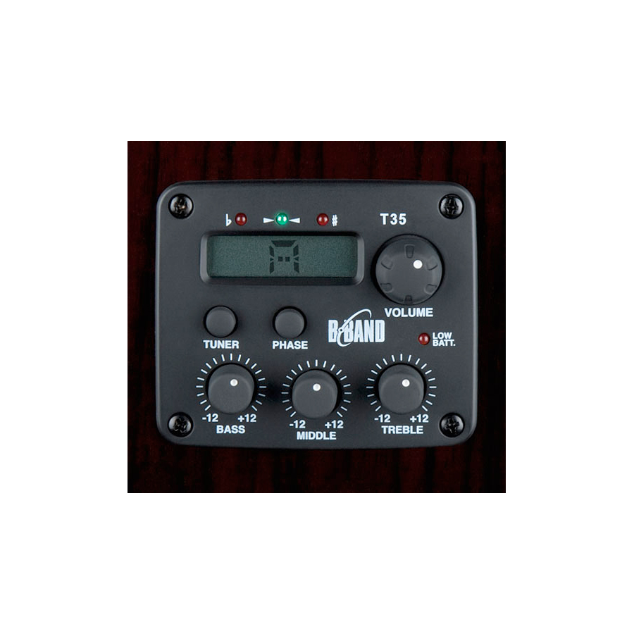Luna Guitars Fauna Dragon B-Band Preamp