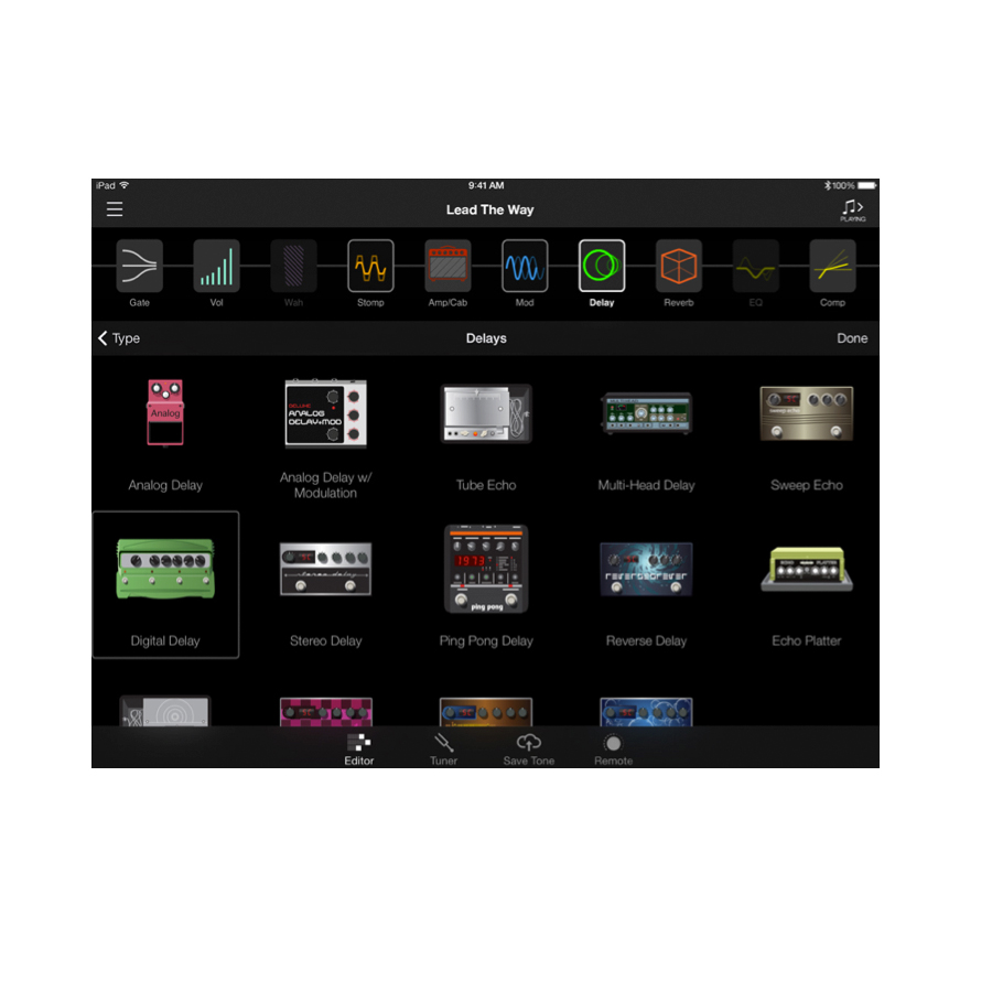 Line 6 AMPLIFi 75 App on iPad