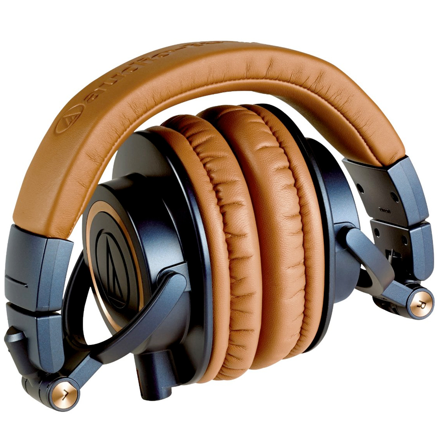 Audio Technica ATH-M50x Blue Folded View