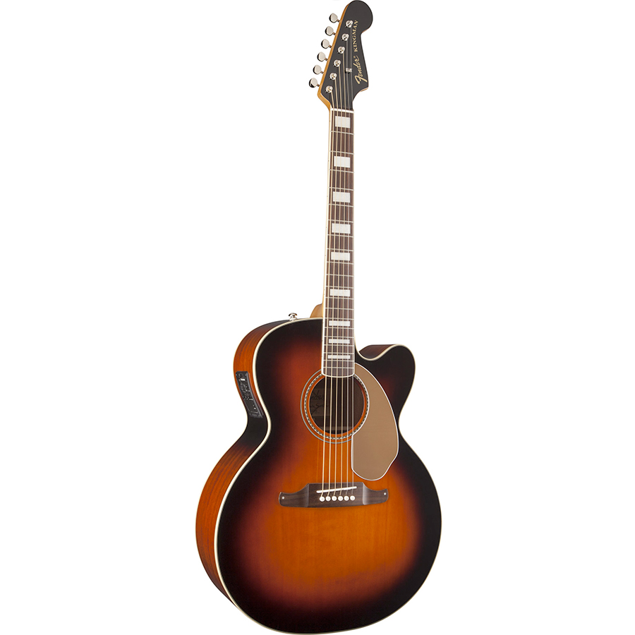 Fender Kingman Jumbo SCE 3-Color Sunburst Angled View