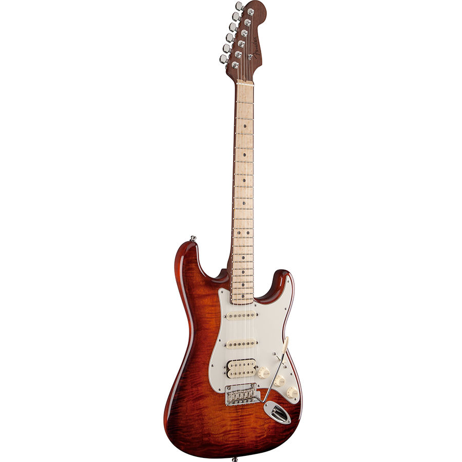 Fender Select Stratocaster HSS Exotic Maple Flame View 2