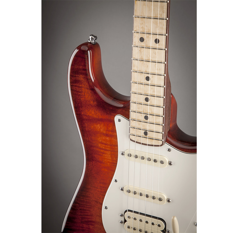 Fender Select Stratocaster HSS Exotic Maple Flame View 4