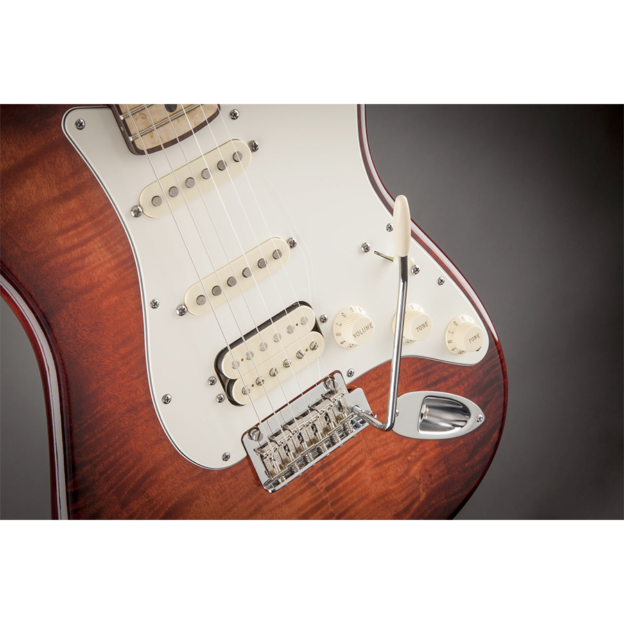 Fender Select Stratocaster HSS Exotic Maple Flame View 5