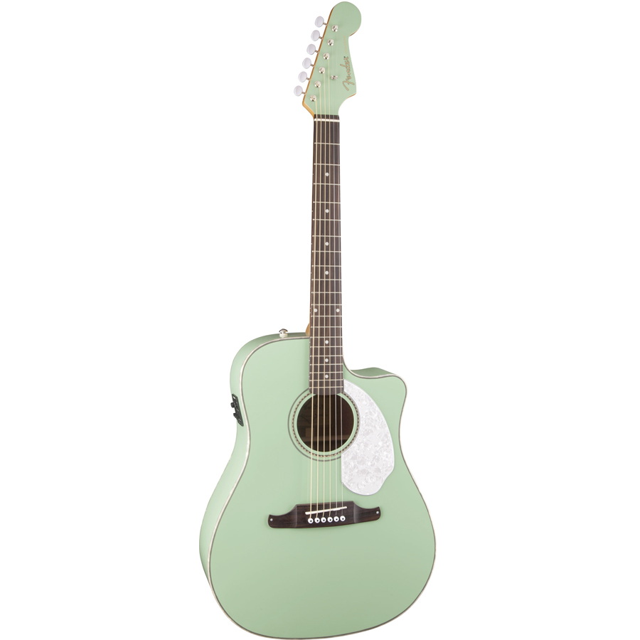 Fender Sonoran SCE Surf Green Angled View