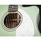 Fender Sonoran SCE Surf Green Soundhole Detail