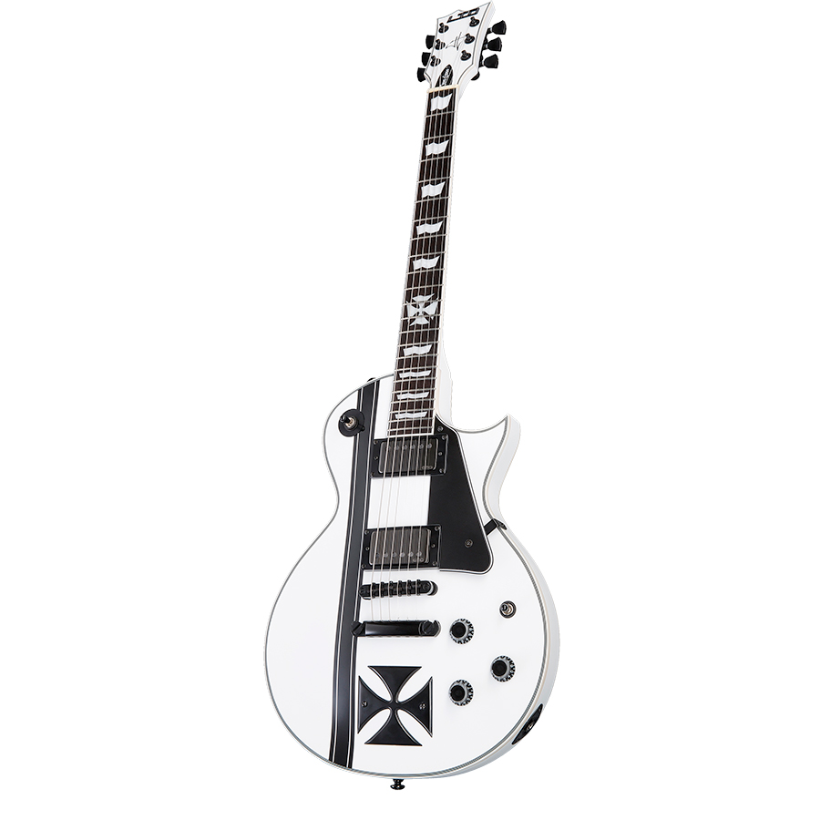 ESP LTD Iron Cross Snow White Angled View