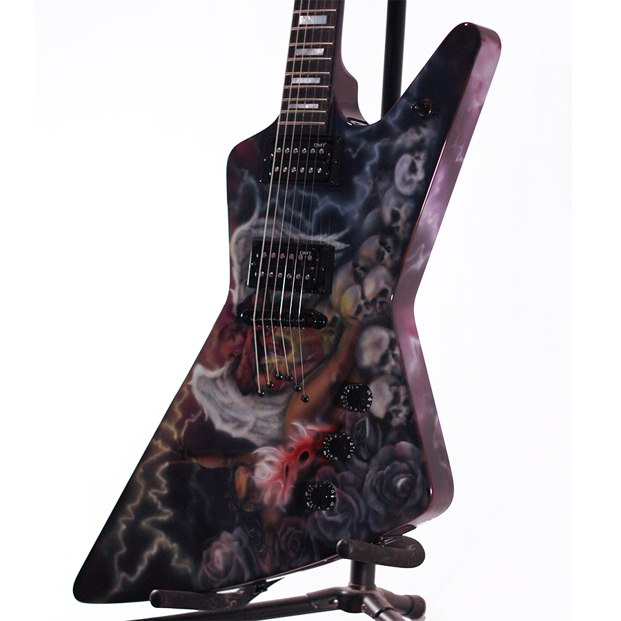 Dean USA Z Airbrush Custom Body Detail