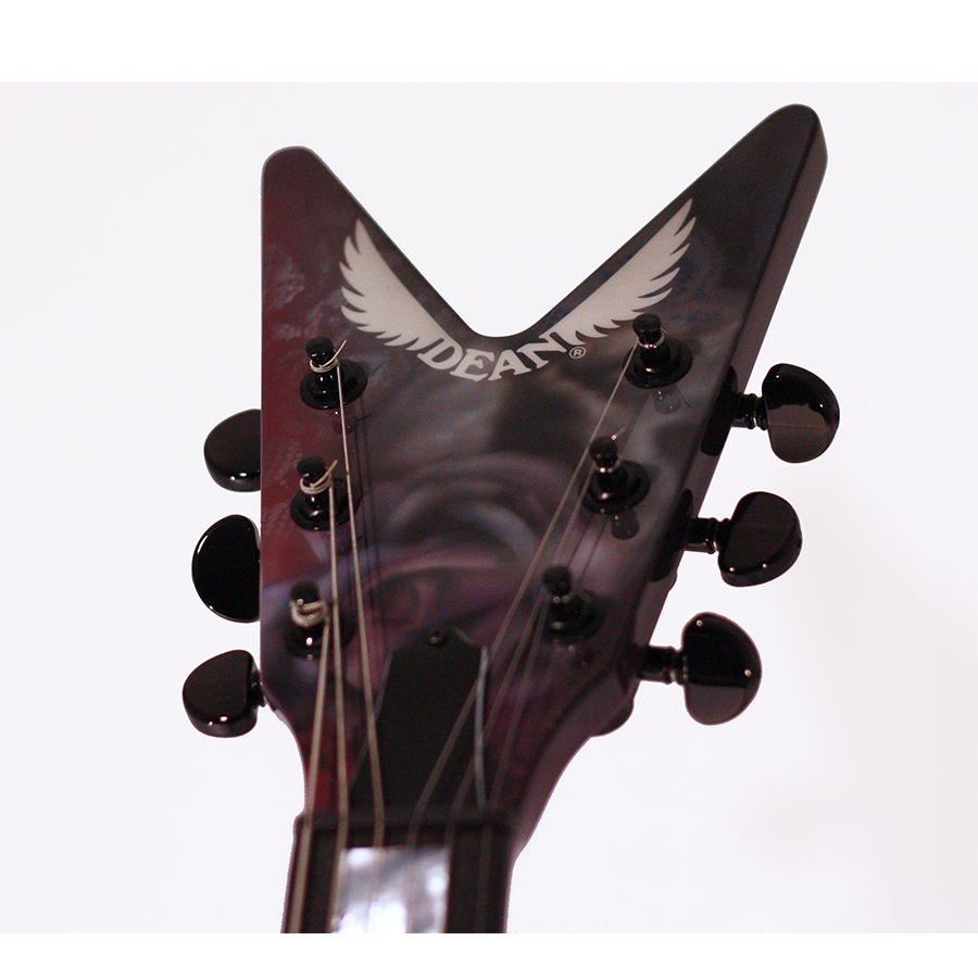 Dean USA Z Airbrush Custom Headstock View