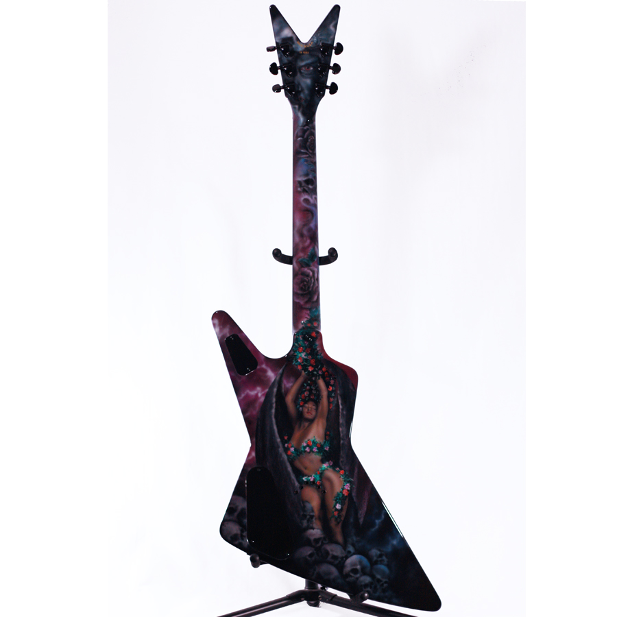 Dean USA Z Airbrush Custom Rear Body View