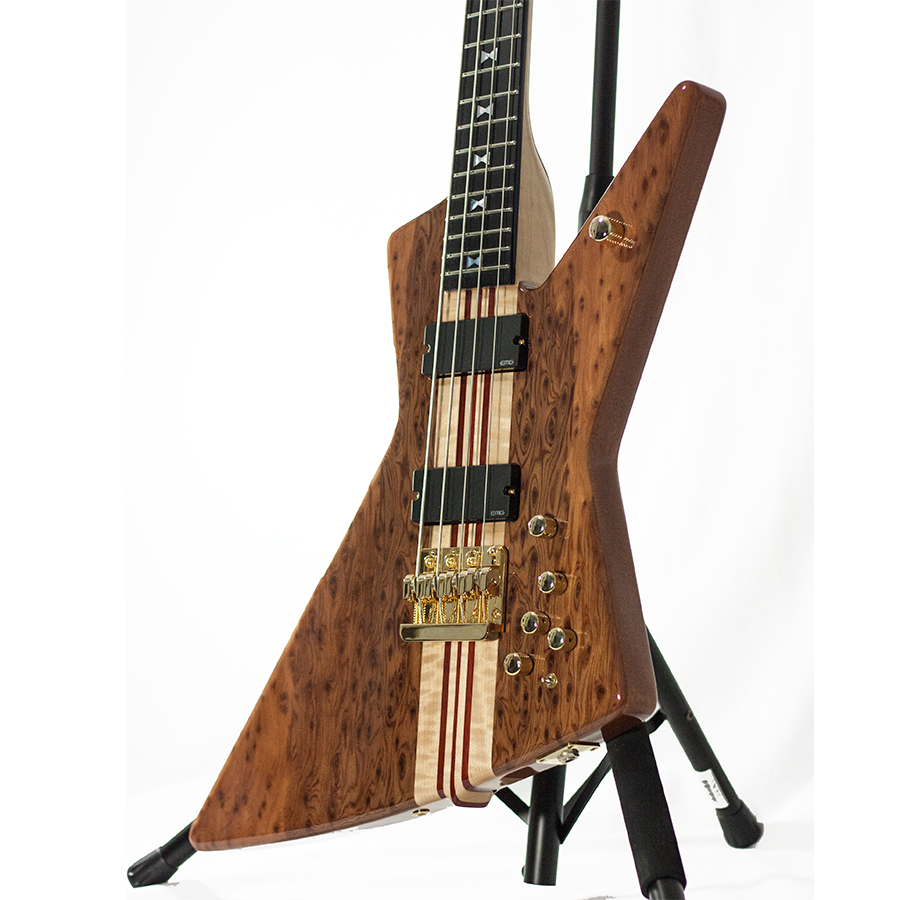 Dean USA John Entwistle Spider Redwood Burl Bass Ltd Body Detail