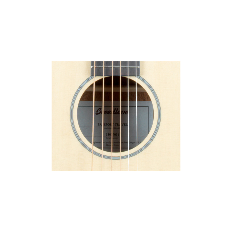 Breedlove Passport Travel Guitar Soundhole Detail