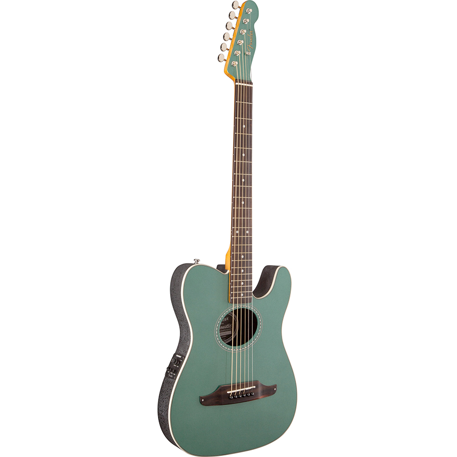 Fender Telecoustic Plus Sherwood Green Angled View