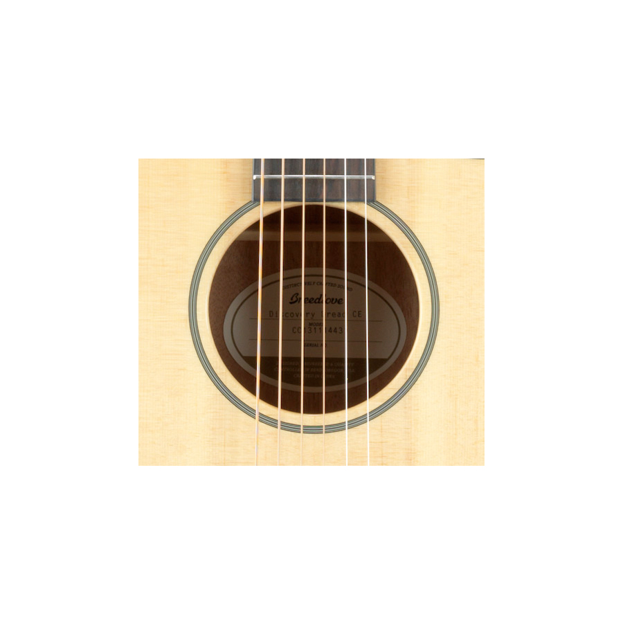 Breedlove Discovery Dreadnought CE Guitar Soundhole Detail