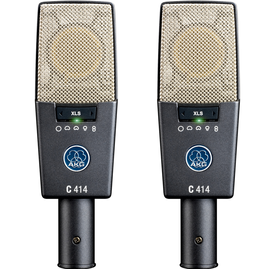 Akg C414 XLS Matched Stereo Set Pair Microphones