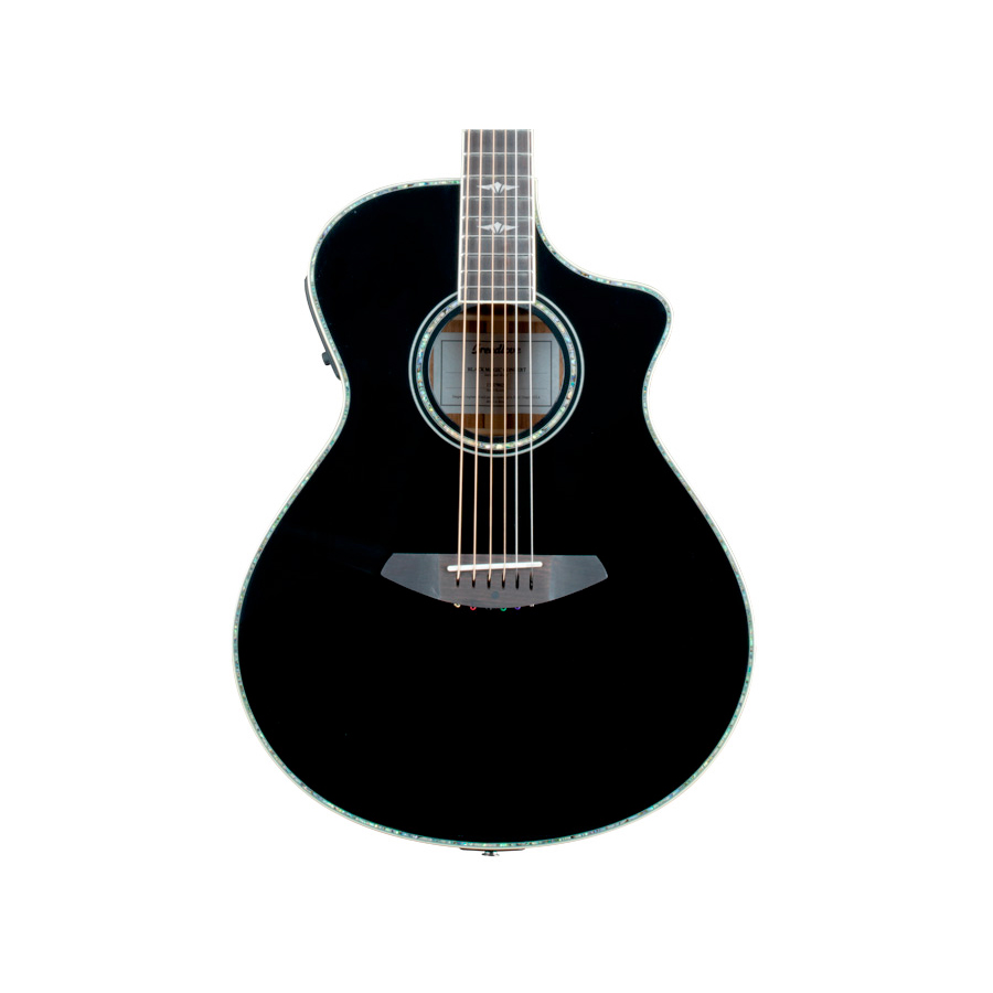 Breedlove Stage Black Magic Concert Guitar Body Detail