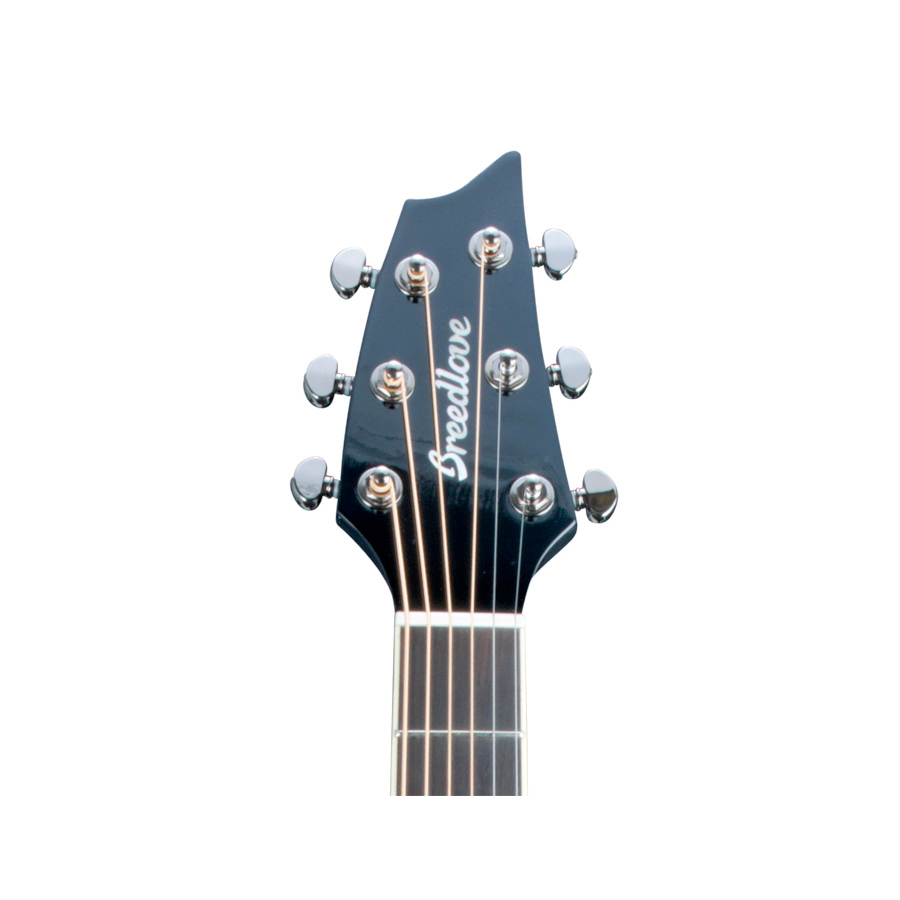Breedlove Stage Black Magic Concert Guitar Headstock View