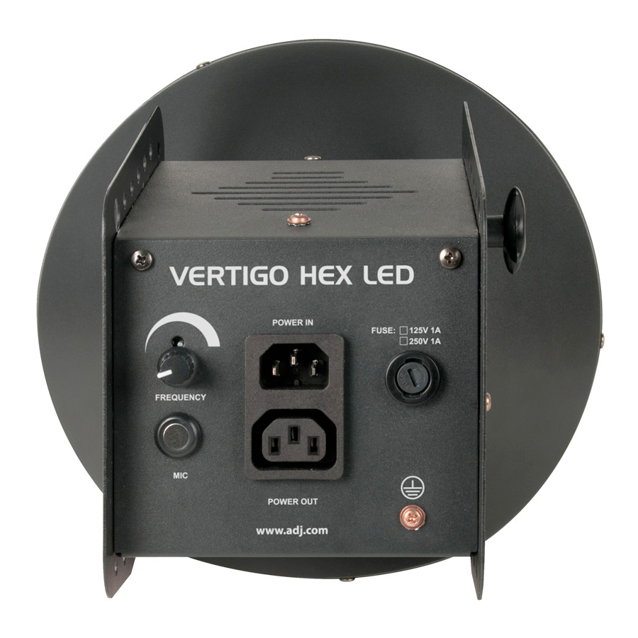 American DJ Vertigo HEX LED Rear View