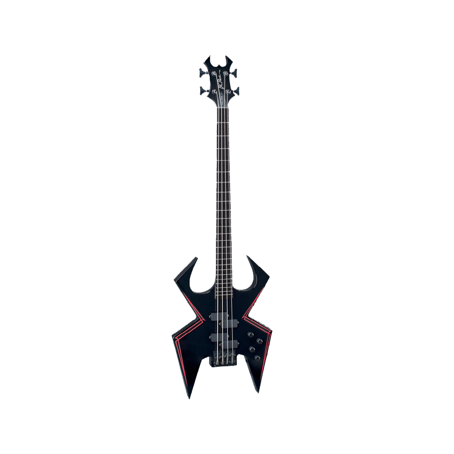 Widow 4 Bass - Onyx with Red Pinstripes