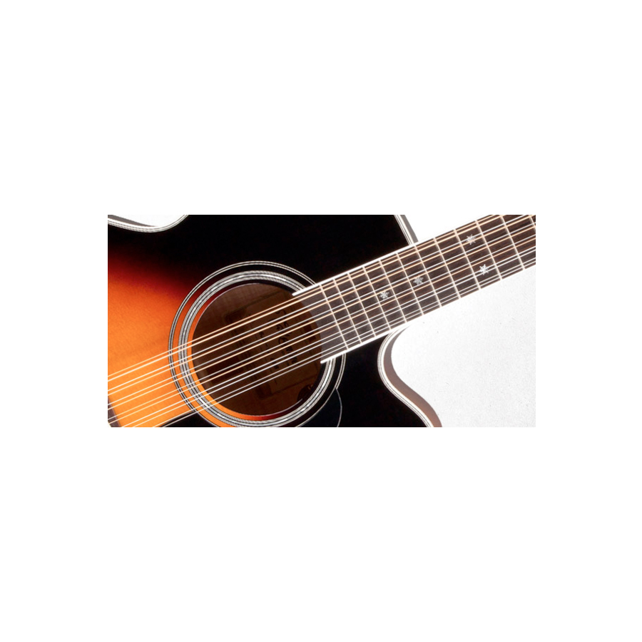 Takamine P6JC-12 Brown Sunburst Soundhold Detail