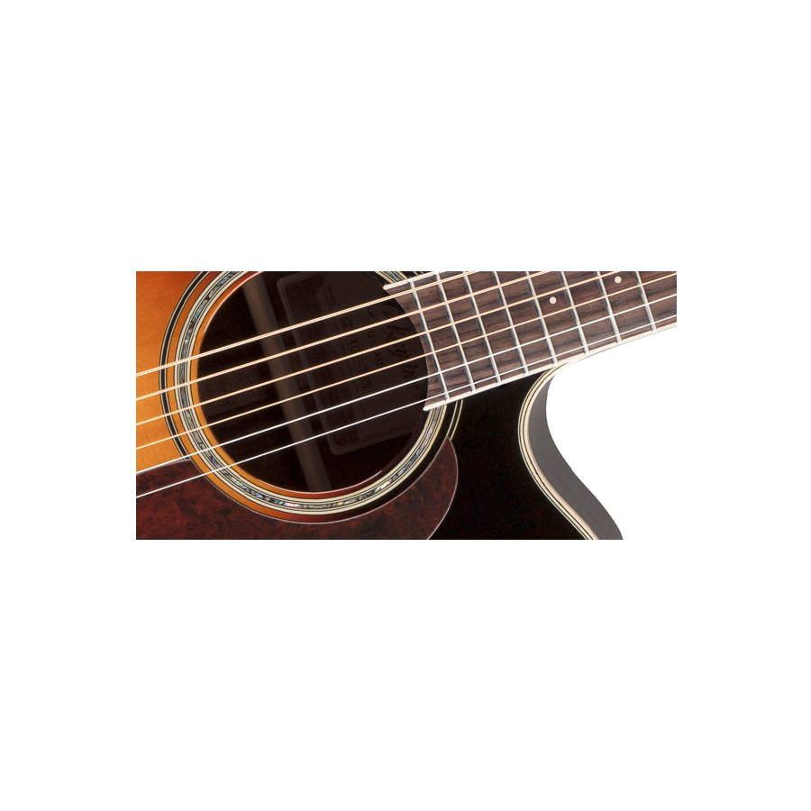 Takamine GD71CE Brown Sunburst Detail 3