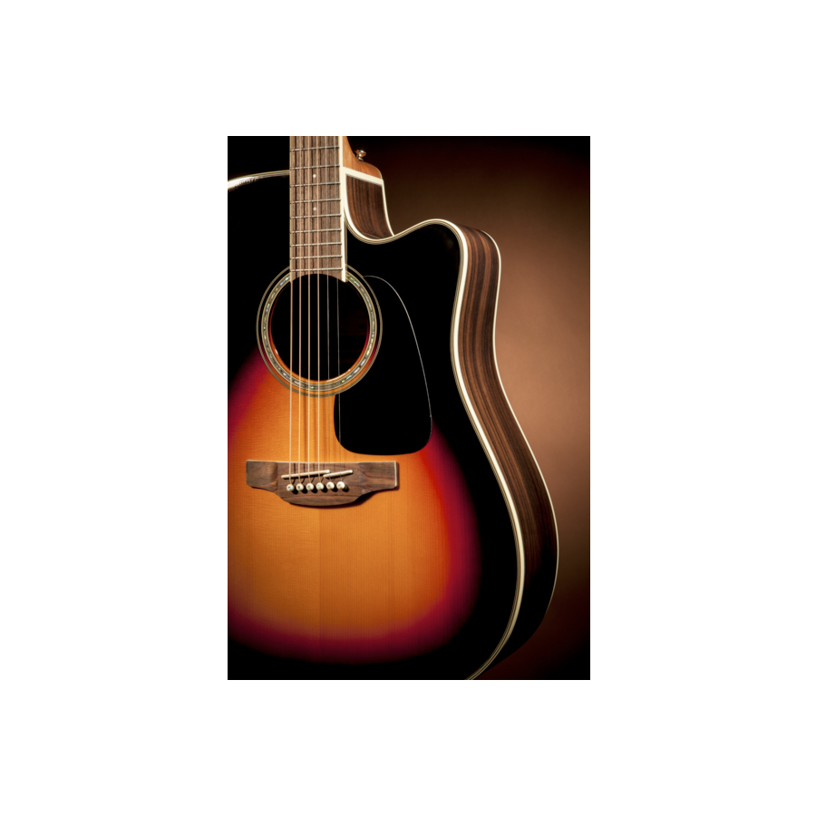 Takamine GD51CE Brown Sunburst Detail 1