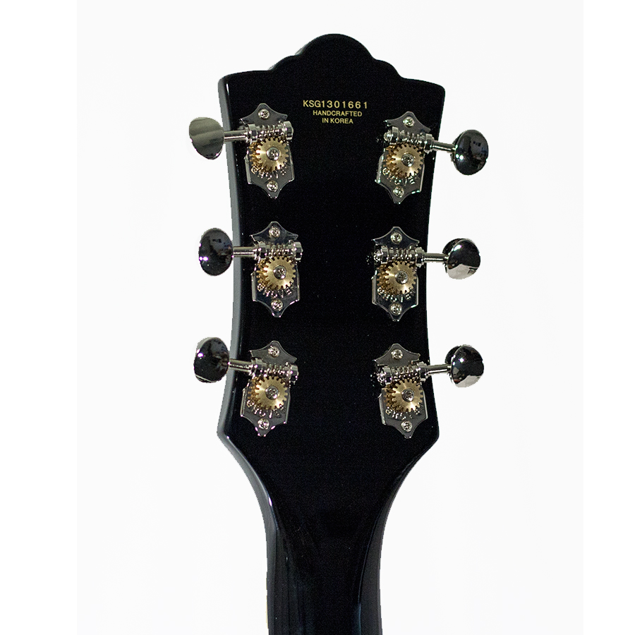 Guild S-100 Polara Black Rear Headstock Detail