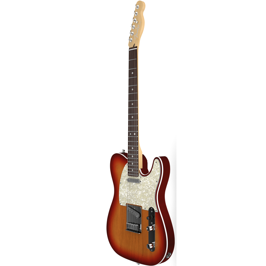 Fender American Deluxe Telecaster - Aged Cherry Burst Side View