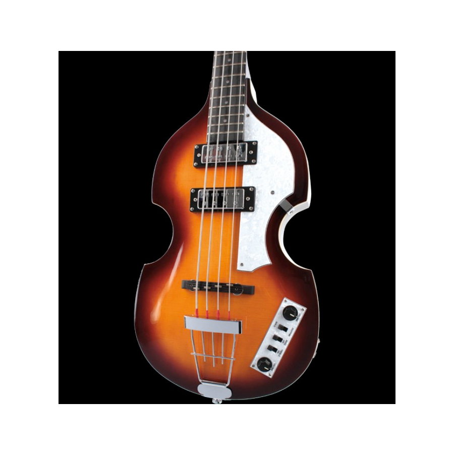 Hofner Violin Bass - Ignition Cavern Sunburst Angled View