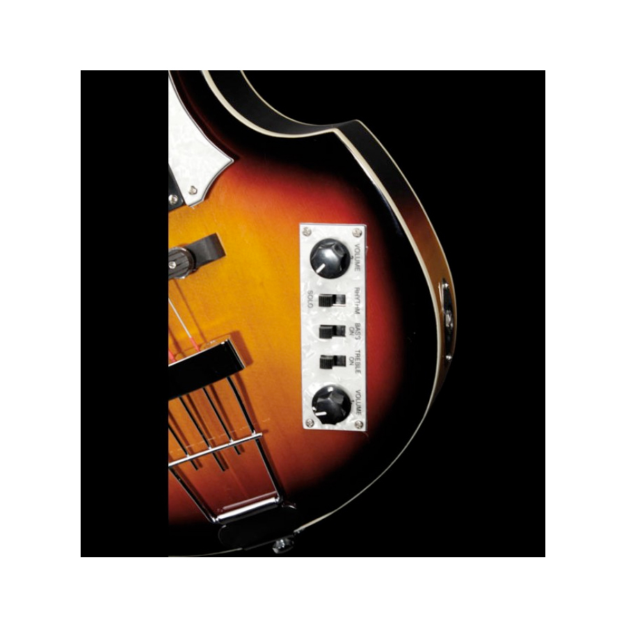 Hofner Violin Bass - Ignition Cavern Sunburst Controls